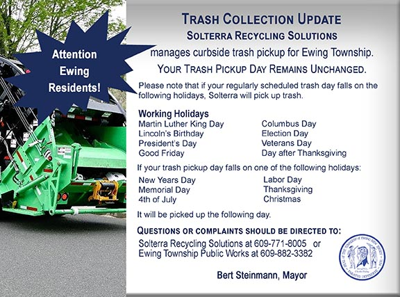 Ewing New Jersey - Trash & Recycling