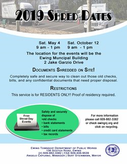 Ewing New Jersey - Additional Recycling Events