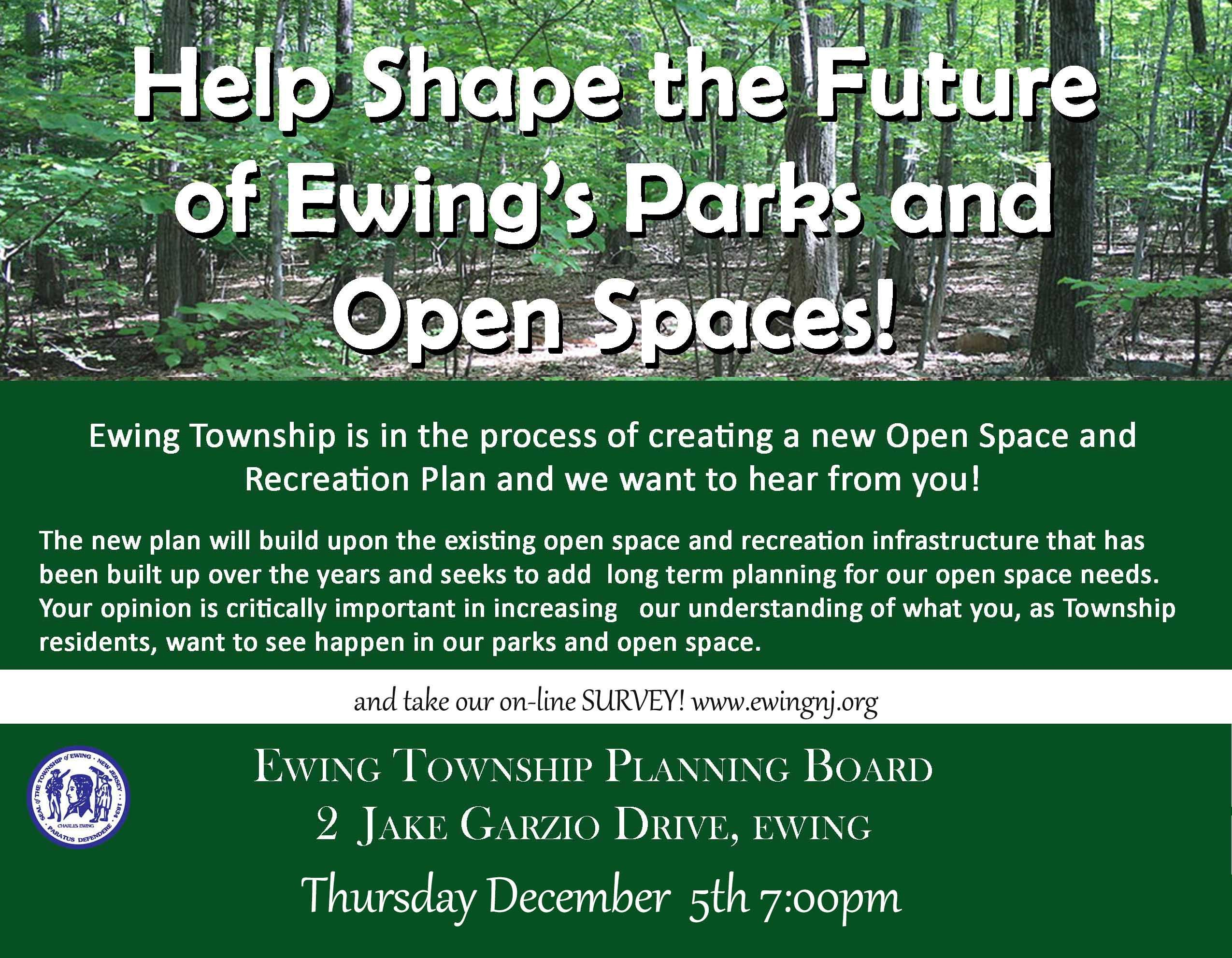Parks and Open Space Survey Ad